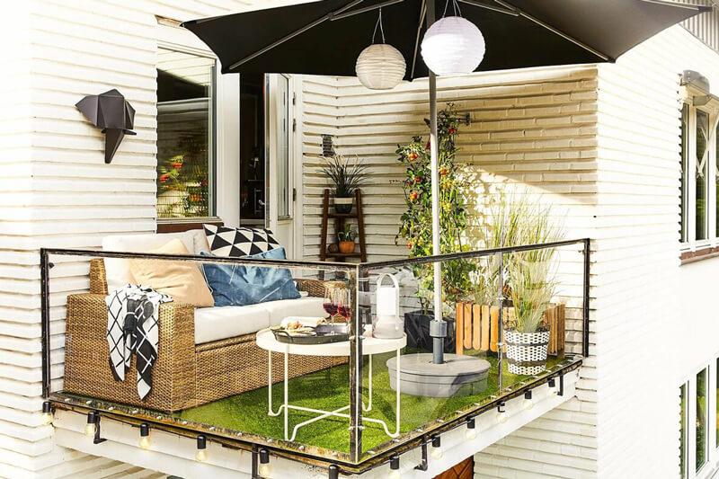 Farklı Balkon Dekorasyon