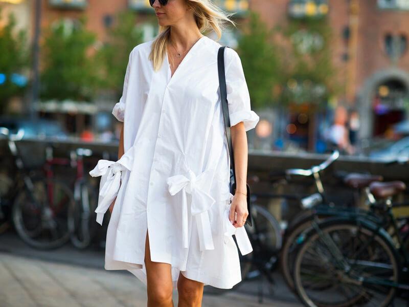 Beyaz Gömlek Elbise Kombinleri
