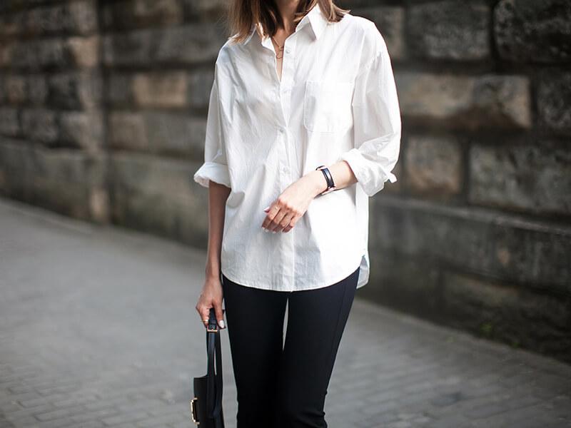 Beyaz Gömlek Tunik Kombinleri