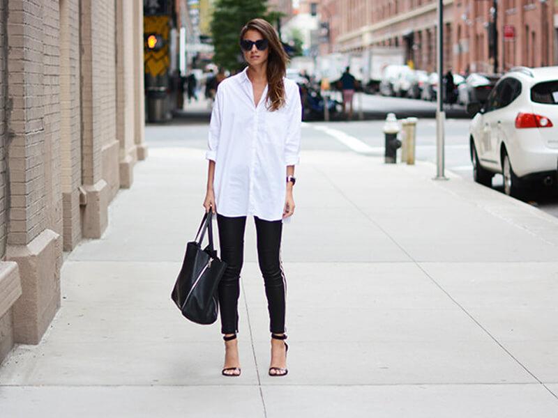 Özel bir buluşma için beyaz gömlek