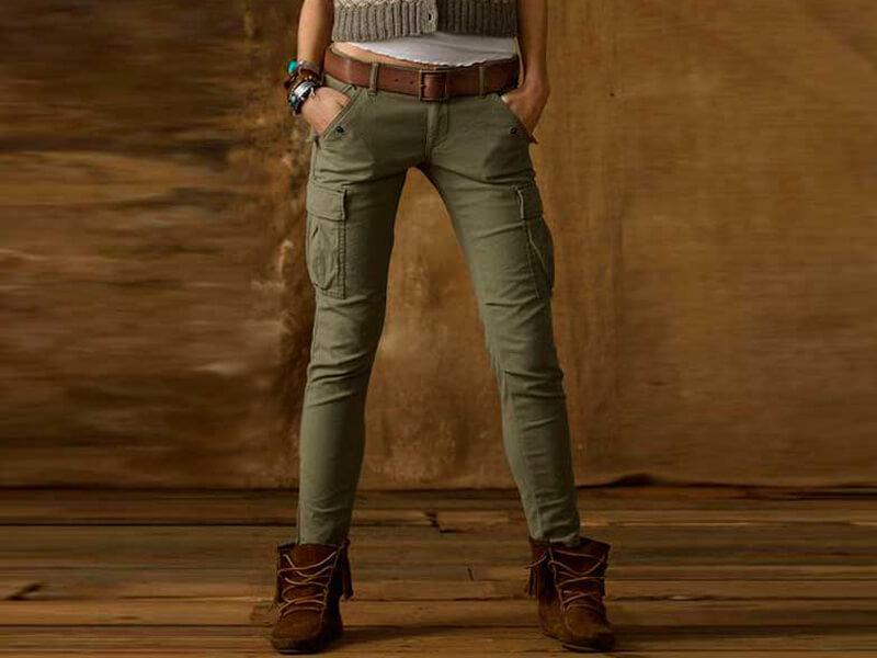 Avcı yeşili kot pantolon