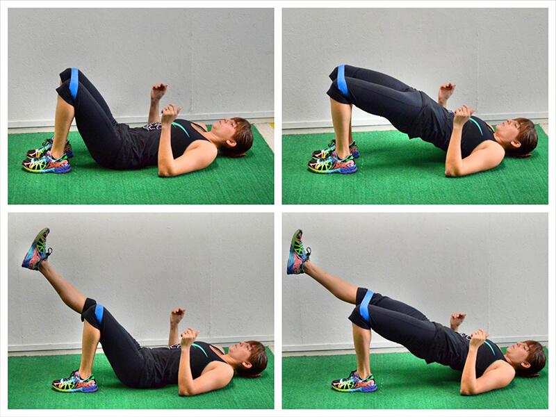 Köprü egzersizi ile iliopsoas kasını çalıştırma egzersizi