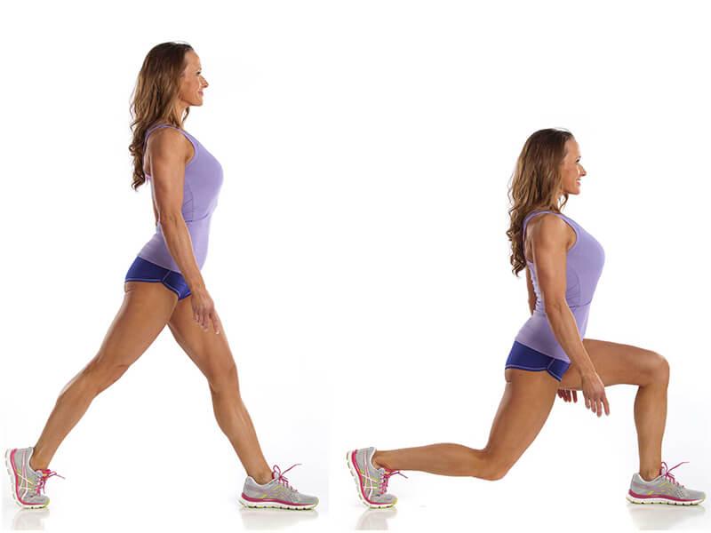 Lunge egzersizi ile iliopsoas kasını çalıştırma egzersizi