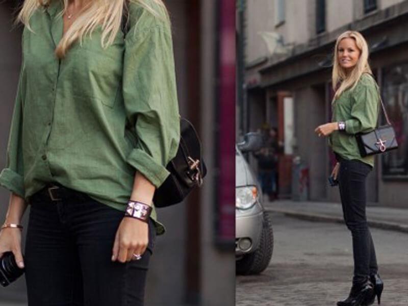 Yeşil Gömlek Bayan Giyiminde Nasıl Kullanılır?