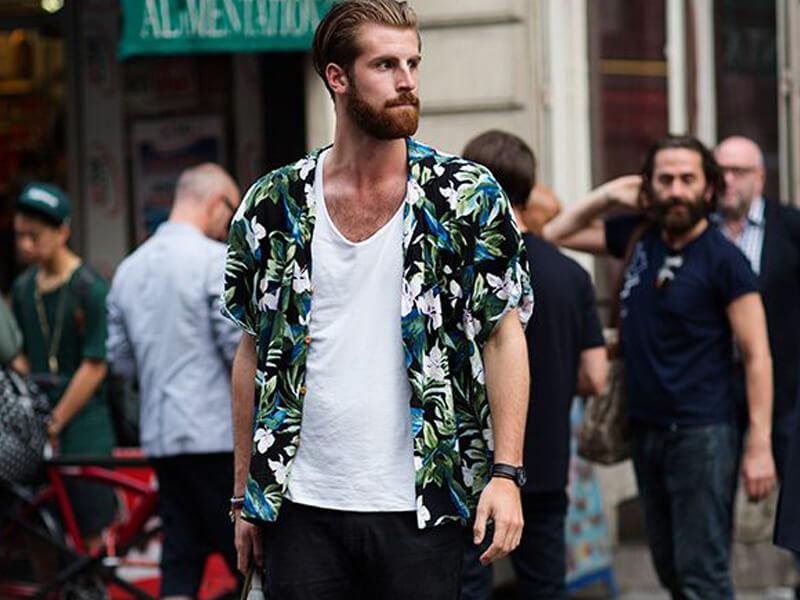 Erkek Moda Akımları Floral desenler