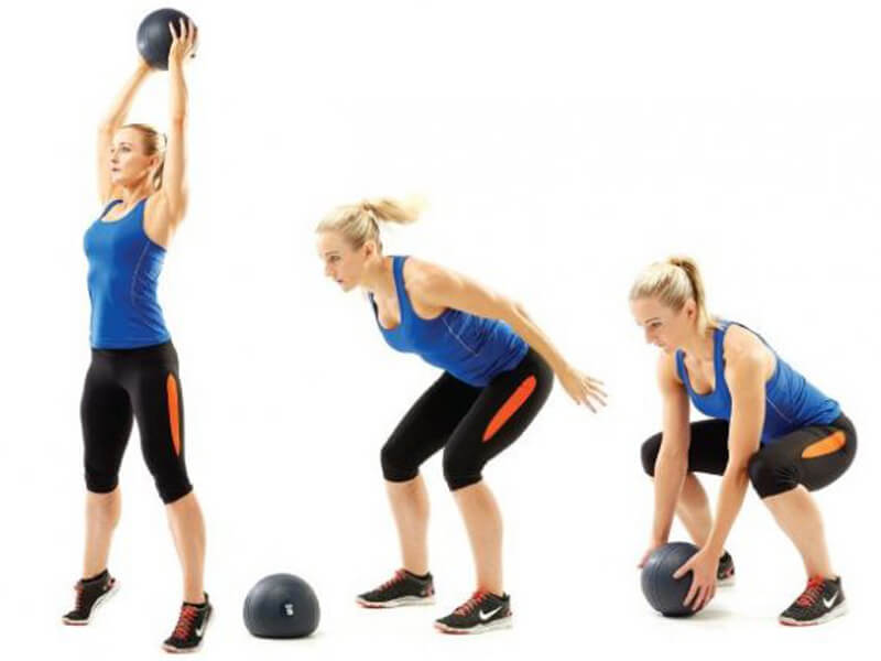 Medicine ball slam egzersizi