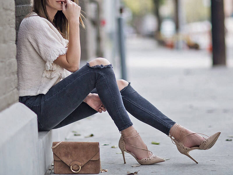 Pantolon Topuklu Ayakkabı Kombinleri